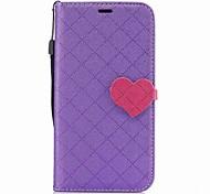 Недорогие -Кейс для Назначение Motorola Бумажник для карт Кошелек со стендом Кольца-держатели Магнитный Чехол С сердцем Твердый Кожа PU для Мото G5