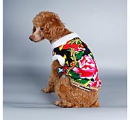 Недорогие -Собака Костюмы Плащи Толстовка Рождество Одежда для собак Новый год Природа Черный Красный Зеленый Синий Костюм Для домашних животных