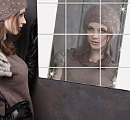 Недорогие -Зеркала Наклейки Зеркальные стикеры Декоративные наклейки на стены, Винил Украшение дома Наклейка на стену Стена Стекло / ванной комнаты