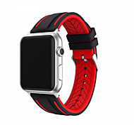 cheap -Watch Band for Apple Watch 3 Serie 1 2 38mm 42mm Classic Buckle Silicone Replacement Strap