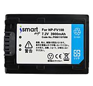 Ismartdigi FV100 7.2V 3900mAh Camera Battery for Sony HDR-CX610E CX450 CX680