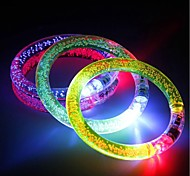 3PCS Multicolor LED Flashing Bracelet Light Up Acrylic Bangle for Party Bar Halloween Chiristmas Ramdon Color