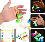 ywxlight® llevó la luz de la noche el dedo luminoso yoyo dedo de la mano escritorio hilandero niños niño para el tiempo de rotación largo anti estrés