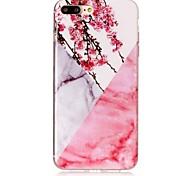 Para iPhone X iPhone 8 Case Tampa IMD Capa Traseira Capinha Mármore Macia PUT para Apple iPhone X iPhone 8 Plus iPhone 8 iPhone 7 Plus