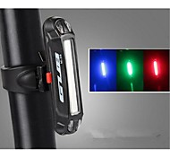 Bike Lights Rear Bike Light LED LED Cycling Outdoor Water Resistant Color-Changing LED light USB Lithium Battery 100 Lumens USB