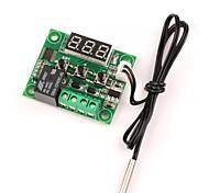 baratos -12v dc termostato de aquecimento / aquecimento térmico controle de temperatura -50-110 c controlador de temperatura 10a relé com sensor de