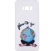 For Samsung Galaxy S8 Plus S8 Phone Case Earth Girl Pattern Soft TPU Material Phone Case