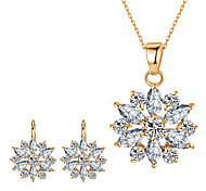 Women's Jewelry Set Pendants Bridal Jewelry Sets AAA Cubic Zirconia Costume Jewelry Fashion Euramerican Classic Cubic Zirconia Rhinestone