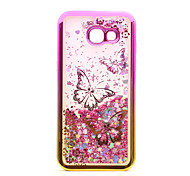 For Samsung Galaxy A3(2017) A5(2017) Case Cover Flowing Liquid Pattern Back Cover Case Glitter Shine Butterfly Soft TPU