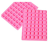 1 Pcs Mold Letter For Candy For Ice For Chocolate Silicone New Year's 3D Cake Mold 23.8x18x1.7cm(9.37x7.08x0.66INCH) Random Color