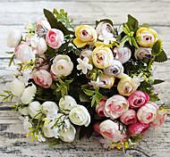 Недорогие -Искусственные Цветы 1 Простой стиль Камелия Букеты на стол / Не включено