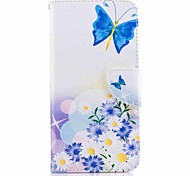 Per huawei p10 e huawei p10 lite portafoglio portabicchiere con custodia per bancale flip case cassa pieno corpo farfalla hard pu leather