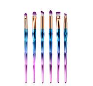 6pcs Eye Makeup Brush Set Gorgeous Powder Blush Foundation Eyeshadow Eyeliner Eyebrow Lip Cosmetic Brush Kit Diamond Shape Brush