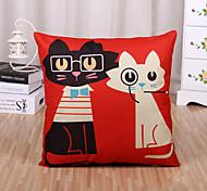 cheap -1 Pcs Cartoon Cute Kitty Printing Pillow Cover Square Pillow Case Sofa Cushion Cover