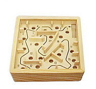 cheap -Board Game Balls Maze & Sequential Puzzles Maze Wooden Labyrinth Toys Square Wood Pieces Unisex Gift