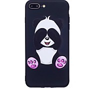 For iPhone 7 Plus 6 Plus 6S SE 5S 5 Case Cover Panda Pattern Relief Back Cover Soft TPU