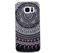 Для samsung galaxy s8 s8 plus case cove mandala шаблон вспышка порошок imd процесс tpu материал телефон корпус s7 s6 край