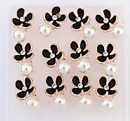 Women's Girls' Stud Earrings Drop Earrings Hoop Earrings Imitation Pearl Basic Unique Design Flower Style Pearl Flowers Adorable