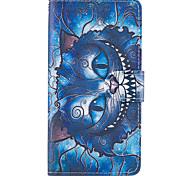 Для samsung galaxy s8 plus s7 край чехол покрытие синий кошка модель pu кожаные чехлы для s6 край плюс s5 мини s4 s3