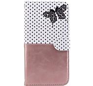 Недорогие -Для яблока iphone 7 плюс 7 чехлов держатель карты кошелек с подставкой флип-паттерн полный корпус чехол бабочка твердая кожа pu для 6 6 с