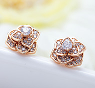 Women's Stud Earrings Jewelry Unique Design Fashion Euramerican Costume Jewelry Zircon Alloy Jewelry Jewelry For Wedding Birthday