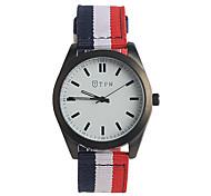 cheap -Men's Fashion Watch Japanese Quartz / Nylon Band Casual White Red Green Grey