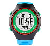 Недорогие -Ezon часы моды ультра-тонкие женщины мужские спортивные водонепроницаемая цифровая дата Секундомер сигнализация резиновый наручные часы