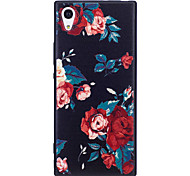 Sony Xperia XA1 XZ  Case Cover Flower Pattern Painted Embossed Feel TPU Soft Case Phone Case
