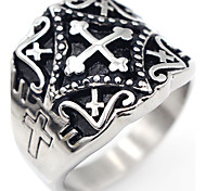 cheap -Men's Ring Jewelry Silver Stainless Steel Cross Cross Christmas Gifts Special Occasion Thank You Gift Daily Casual Costume Jewelry