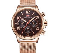 Men's Dress Watch Quartz Stainless Steel Alloy Band Casual Black Brown Gold