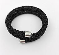 cheap -Women's Bangles - Stainless Steel, Resin, Rhinestone Alphabet Shape, Friends Fashion Bracelet Silver / Dark Blue / Gray For Christmas Gifts / Wedding / Party