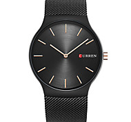 CURREN Men's Casual Watch Fashion Watch Wrist watch Unique Creative Watch Quartz Large Dial Stainless Steel Band Luxury Casual Elegant
