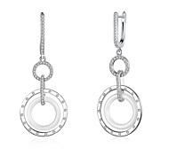 Women's Drop Earrings AAA Cubic ZirconiaBasic Circular Unique Design Dangling Style Rhinestone Natural Geometric Friendship Turkish