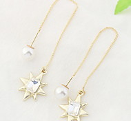 Drop Earrings Women's Euramerican Personalized Rhinestone Pearl Daily Party Daily Graduation Gift Movie Jewelry