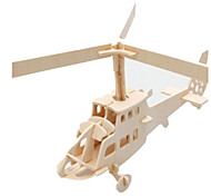 cheap -3D Puzzles Jigsaw Puzzle Wood Model Plane / Aircraft Famous buildings Helicopter Architecture 3D DIY Wood Classic Kid's Unisex Gift