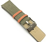 Ткань Ремешок для часов Ремень Зеленый 26cm / 10.24 дюймы 2cm / 0.8 дюймы
