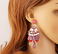 Women's Earring Back Drop Earrings Ball Earrings Unique Design Dangling Style Pendant Tassel Simple Style Costume Jewelry Resin Chrome