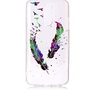Case For LG K10 (2017) K8 (2017) Case Cover Feathers Pattern High Permeability TPU Material IMD Technology Flash Powder Phone Case G6