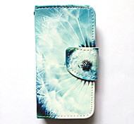 cheap -Case For Apple iPhone 4s/4 Case Cover Card Holder Wallet with Stand Flip Pattern Full Body Case Dandelion Hard PU Leather