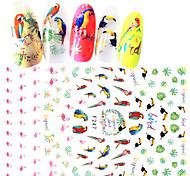 preiswerte -1pcs 3D Nagel Sticker Aufkleber 3-D Mädchen & Junge Frauen Nagel Stamping Vorlage Alltag Modisch Gute Qualität