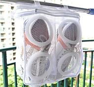cheap -1Pcs Fashion Storage Organizer Bags Mesh Laundry Shoes Bags Dry Shoe Organizer Portable Washing Bags