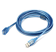 USB 2.0 Adaptador, USB 2.0 to USB 2.0 Adaptador Macho - Hembra 3,0 M (10 pies)