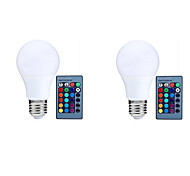 10W E27 LED Smart Bulbs A70 25 LEDs SMD 5050 Sensor Infrared Sensor Remote-Controlled Decorative Dimmable RGB 800lm 3000-6500K AC 85-265V