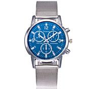 Муж. Модные часы Китайский Кварцевый Нержавеющая сталь Группа Элегантные часы Серебристый металл