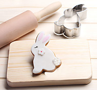 Недорогие -Файлы cookie Rabbit Животный принт Мультфильм образный Для Sandwich конфеты Для получения сыра Пироги Печенье Хлеб Нержавеющая сталь День