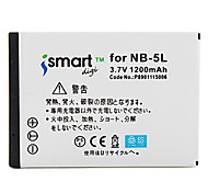 Ismartdigi 5L 3.7V 1200mAh Camera Battery for Canon S110 SX200 SX210 SX220hs SX230hs