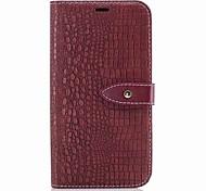 Недорогие -Кейс для Назначение Motorola Бумажник для карт Кошелек Флип Магнитный Чехол Сплошной цвет Твердый Кожа PU для Мото G5 Plus Moto G5