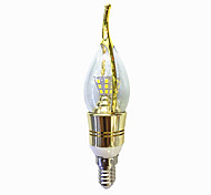 Недорогие -6W 550-600 lm E14 LED лампы в форме свечи C35 40 светодиоды SMD 2835 Тёплый белый Белый AC 220V