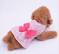 preiswerte -Hund Kleider Hundekleidung Schleife Purpur Blau Rosa Stoff Kostüm Für Haustiere Damen Lässig/Alltäglich