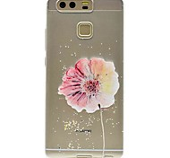 Недорогие -Кейс для Назначение Huawei P9 Huawei P9 Lite Huawei Honor V8 Huawei P8 Huawei Huawei P8 Lite С узором Кейс на заднюю панель Цветы Мягкий
